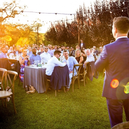 Wedding Speech at Arista Winery Reception