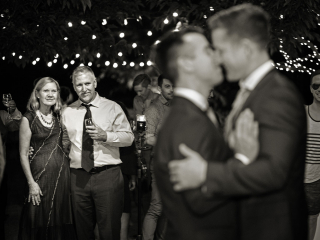 Black and White Wedding Moment
