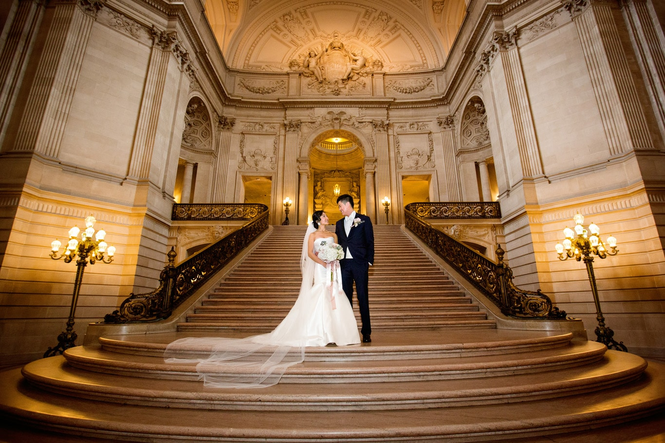 North 4th Floor Balcony Wedding SF City Hall