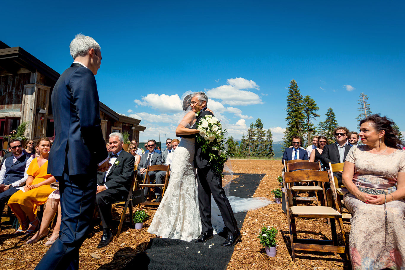 Outdoor Ceremony at Zephyr Lodge Northstar