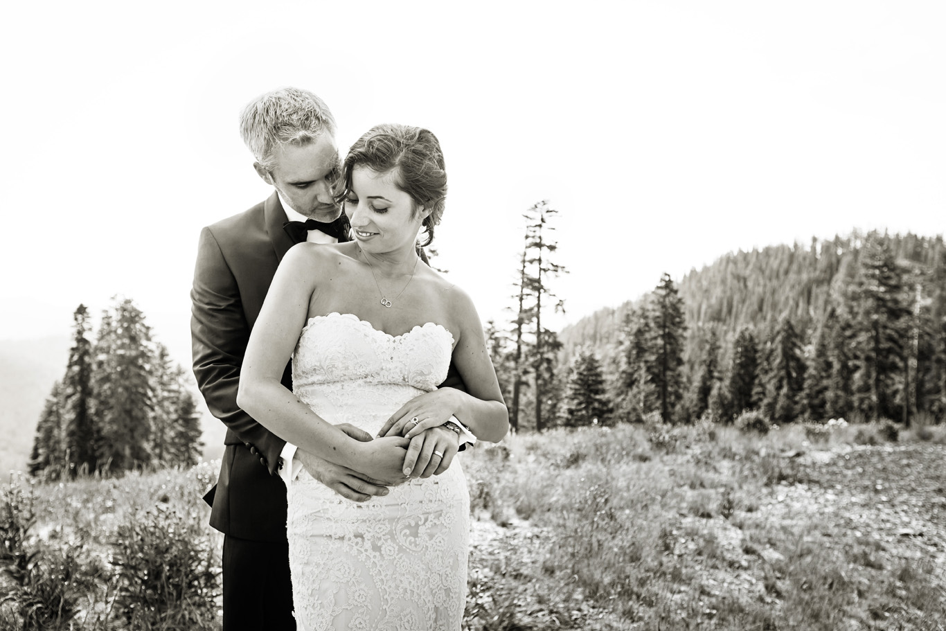 Natural and Intimate Wedding Portrait