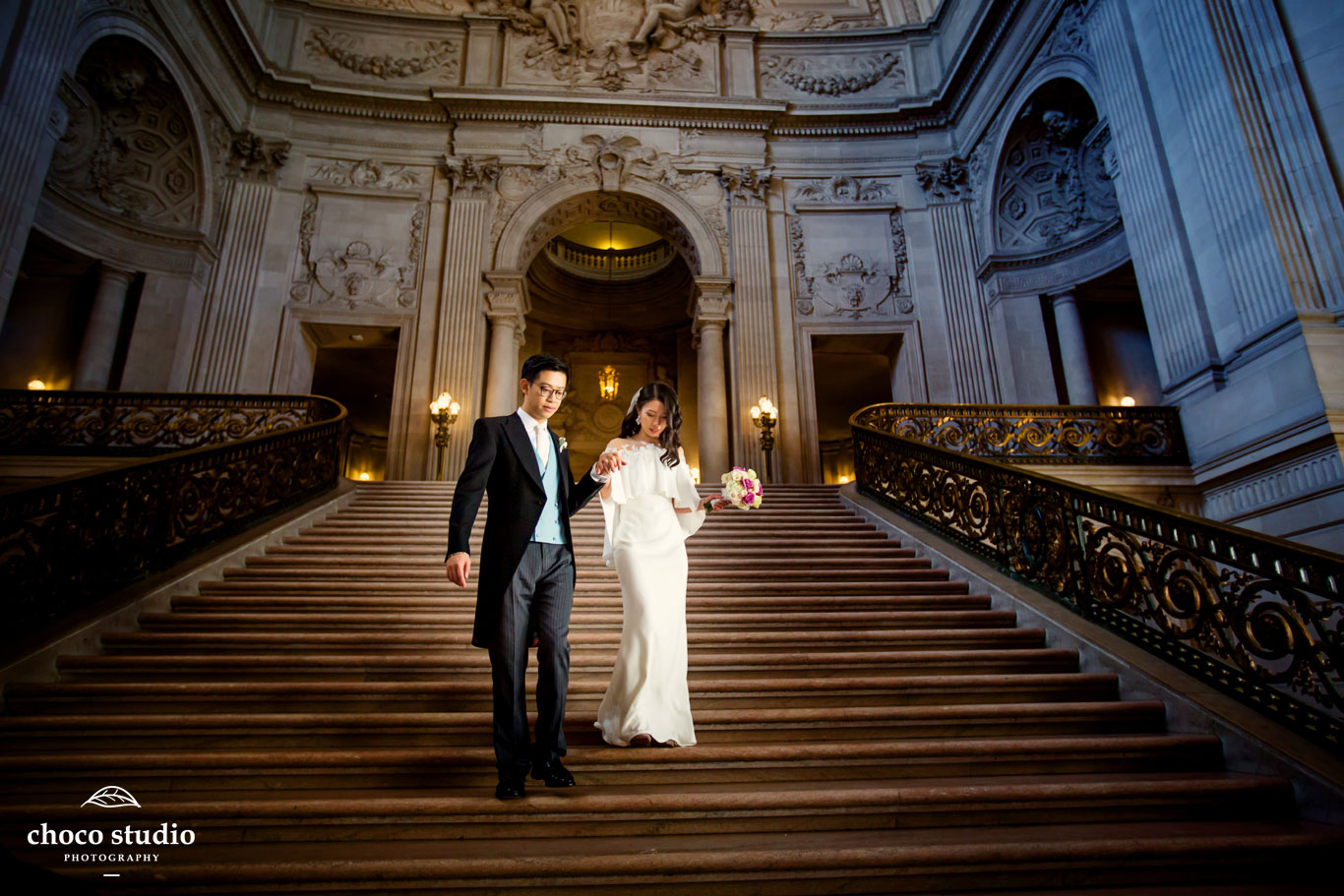 San Francisco City Hall Winter Wedding